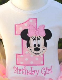 Baby Minnie Mouse 1st First Birthday T by LilyPrincessBoutique, $9.99