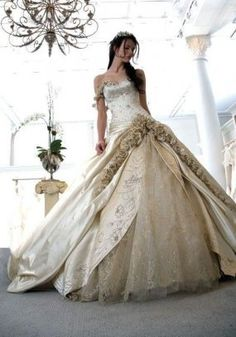 Disney wedding on pinterest disney themed weddings for Beauty and the beast style wedding dress