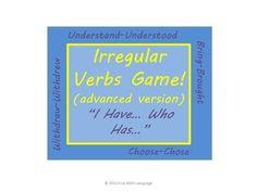 "Irregular Past Tense Verbs Grammar Game ""I have... Who has..."""