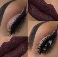 Silver and burgandy liner