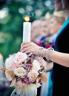Aranjamente florale nunta | Lumanari nunta Greece Wedding, Nasa, Candles, Bride, Wedding Stuff, Wedding Ideas, Diy, Weddings, Fitness