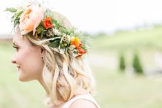 We are swooning over this floral headpiece! #allthehearteyes  Venue: potomacpointwinery Photographers: kassielayne, aliraehaney   Styled Shoot Coordinator: klaynestyled Gown: avalaurennebride Florist: bergeronsflowers HMUA: evergreen.beauty, magnificent_mane17 Accessories: sweetvjewelry Floral Crown Wedding, Boho Wedding, Summer Wedding, Boho Gown, Bohemian Wedding Inspiration, Floral Headpiece, Real Weddings, Vines, Wedding Photos