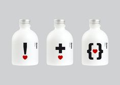 Cool red, black and white shampoo #bottles PD