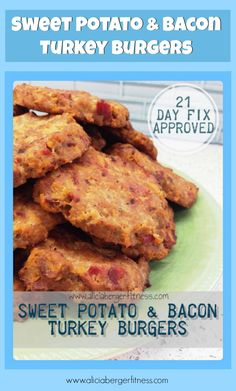 21 Day Fix approved Sweet Potato & Bacon Turkey Burgers! Click the pic for the recipe! Please LIKE my page also!