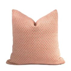 Chelsea Peachy Pink Geometric Chenille Pillow Cover - Fits 14x36 insert (13x35 cover) / Pattern on both sides
