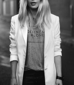 Blazer and t-shirt.....Pinterest, thank you for helping me choose my outfit for today