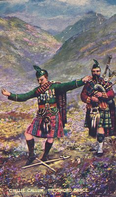 Scotland  The SWORD DANCE Ghillie Callum KILTS by AgnesOfBohemia, $6.99