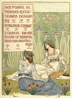 'Set forth in verses & coloured designs' (1899). Illustration by Walter Crane (1845-1915).