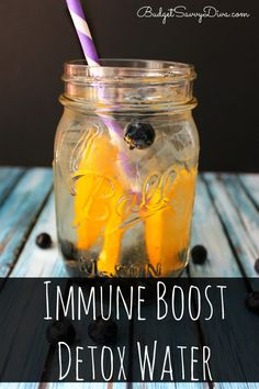 This Drink WORKS! I was feeling poorly and drank this and felt SO much better - MUST PIN - Immune Boost Detox Water Recipe