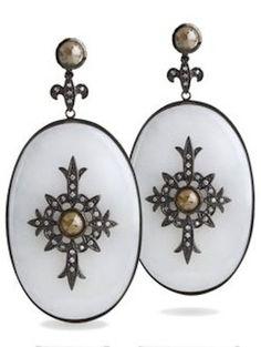 Bochic Jewelry | Bochic White Jade and Diamond Earrings Profile Photo