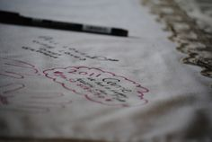 Wonderful idea for capturing holiday memories!!! Use the same plain white tablecloth each year, and ask guests to sign, doodle, or write a note with a fabric pen.  Bring it out each year and add more.  Lovely way to preserve memories, and remember Thanksgivings of years past!
