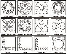 Free Hand Quilting Patterns | 10% off Printable Quilting Designs ... : patterns for hand quilting - Adamdwight.com