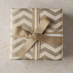 Wrap gifts with chevron for the holidays!