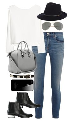 """""""Inspired outfit for drinks"""" by whathayleywore ❤ liked on Polyvore featuring ASOS, rag & bone/JEAN, MANGO, Givenchy, J.Crew, rag & bone and Golden Goose"""