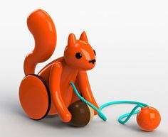Kid O Squirrel pull toy