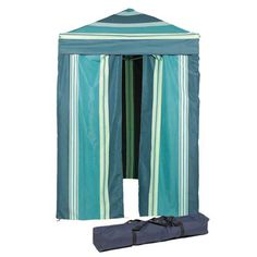 Portable Cabana Stripe Changing Room Privacy Tent Pool