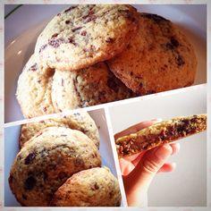 Chocolate chip cookies con ripieno di nutella