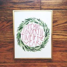 It's The Most Wonderful Time Of The Year 8x10 Christmas Print