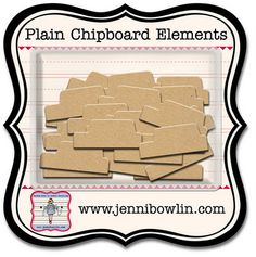 Jenni Bowlin Chipboard Tabs - I think there's a Fiskars punch to match