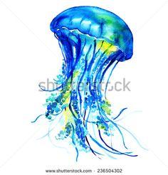 Ocean Water Jellyfish - stock photo