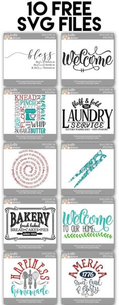 10 Free SVG Files for Cricut and Silhouette by Lcollins59051