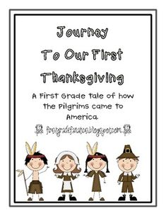 First Thanksgiving Printable Mini Book by First Grade Fanatics Thanksgiving Preschool, First Thanksgiving, Pilgrims Thanksgiving, Thanksgiving History, Thanksgiving Worksheets, Holiday Activities, Classroom Activities, Classroom Ideas, Preschool Songs