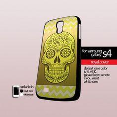 Sugar Skull Chevron - Print On Hard Case For Samsung Galaxy S4 i9500