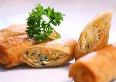 Receita de harumaki de legumes