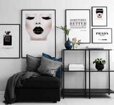 Poster Prada Marfa sign in black and white. Gossip Girl Fashion Poster and Plaka . - Poster Prada Marfa sign in black and white. Gossip girl fashion poster and placard - Living Room Decor, Bedroom Decor, Mid Century Modern Living Room, My New Room, Home And Living, Prada Marfa, Interior Design, Decoration, Prada Poster