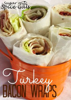 You'll love these delicious turkey bacon wraps! These would be great for lunch or dinner!
