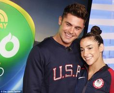 Calm and collected: Raisman, who has now captained two straight teams to gold medals in the Olympics, kept it casual with her Instagram photo, writing: 'Sup @zacefron' Rio 2016