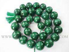 14 Inch Malachite Beads In Round Smooth Shape Quality B #malachite #malachitebeads #malachitebead #malachiteround #roundbeads #beadswholesaler #semipreciousstone #gemstonebeads #beadsogemstone #beadwork #beadstore #bead