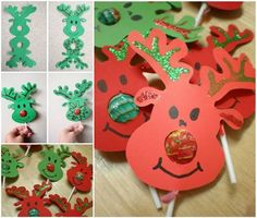 The kids will love helping to make these sweet little Reindeer Lollipop Noses! They'll make fantastic gifts.