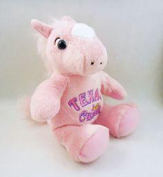 Souvies Texas Cutie pink Horse, Plush stuffed animal, 2016 RGU Group, souvenir #SouviesRGUgroup