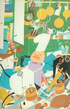 title: Esquire Cook Book illustrator: Charmatz introduction: Arnold Gingrich publisher: Crown Publishers, Inc. copyright: 1955 there are s. Children's Book Illustration, Food Illustrations, Painting Wallpaper, Grafik Design, Cute Art, Art For Kids, Creations, Prints, Kitchen Bookshelf
