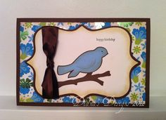 Diana's Designs: Robin Birthday Card Using the Cricut