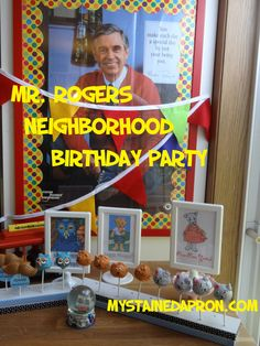 Mr Rogers Neighborhood Birthday Party (also good ideas for Daniel Tiger's Neighborhood Party)