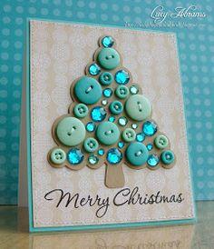 B Make beautiful Christmas cards yourself - Karten - Beautiful Christmas Cards, Diy Christmas Cards, Noel Christmas, Handmade Christmas, Christmas Photos, Christmas Buttons, Christmas Button Crafts, Disney Christmas, Funny Christmas