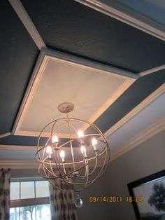 "We have an extra 3"" wall height.  I want to do a faux trey ceiling treatment"