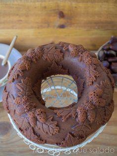 Más dulce que salado: Bundt Cake de chocolate y marrón glacé. {National Bundt Cake Day}