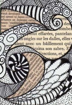 Design cover page ideas zentangle patterns Ideas for 2019 Zentangle Drawings, Doodles Zentangles, Zentangle Patterns, Doodle Drawings, Doodle Art, Zen Doodle, Art Patterns, Tangle Doodle, Tangle Art