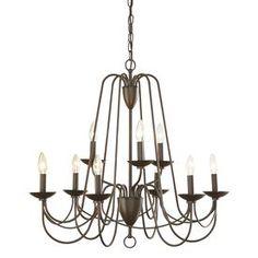 allen roth Wintonburg 9-Light Bronze Chandelier