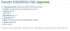 I am getting paid daily at ACX and here is proof of my latest withdrawal 6-th. This is not a scam and I love making money online with Ad Click Xpress. I get paid daily and I can withdraw daily. Online income is possible with ACX, who is definitely paying - no scam here.Thank you Acx ..  AdClickXpress.Official