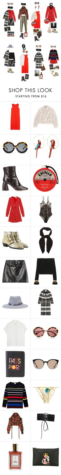 """""""Untitled #2214"""" by duumbblond ❤ liked on Polyvore featuring Monki, STELLA McCARTNEY, Karen Walker, Nach, E L L E R Y, Olympia Le-Tan, Yves Saint Laurent, La Perla, Chloé and Anthony Vaccarello"""