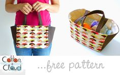Free Sewing Pattern #3 - Easy Lunch Tote by Cotton Cloud