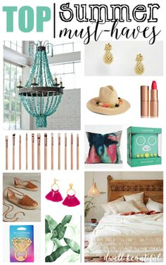Summer is just around the corner! Check out these top must-haves for the season, from home decor to fashion, beauty products, and quirky fun items! You don't want to miss out on these awesome summer products and deals!