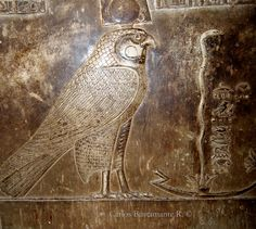 Horus with the Snake, Temple of Hathor, Dendera Temple Complex, Egypt.