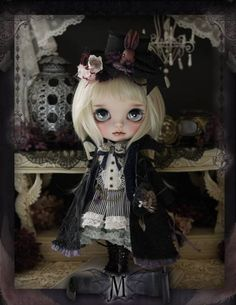 Milk Tea Custom Blythe Black Shadow
