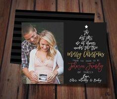 christmas pregnancy announcement card