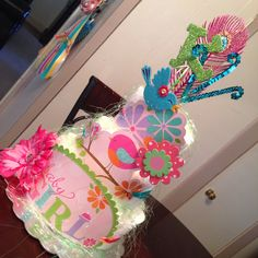 My First Attempt at a Diaper Cake, not too bad...